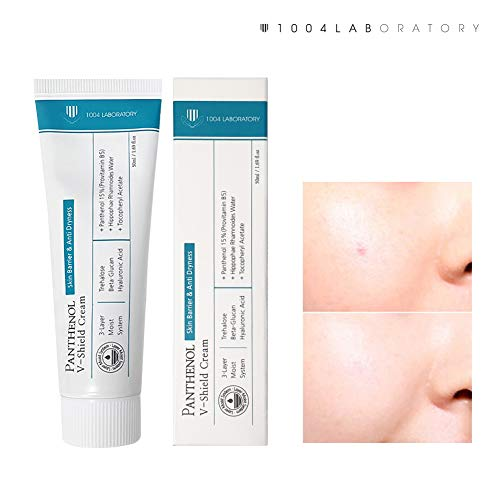 (1004 Laboratory | Panthenol V-shield Cream | Korean Skincare Intensive Facial Moisturizer | Protective Skin Barrier for Damaged, Sensitive Skin | 50 ml)