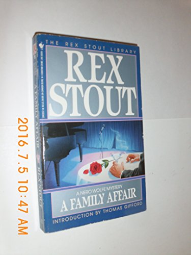A Family Affair: A Nero Wolfe Mystery