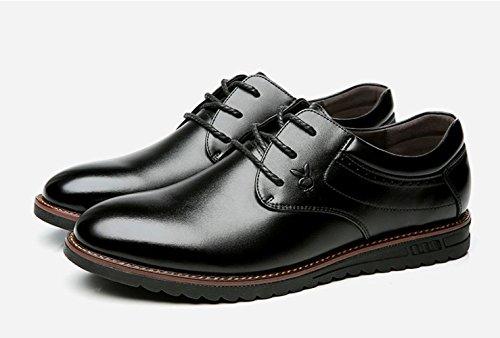 LEDLFIE Chaussures pour Hommes New Business Chaussures Genuine Leather Men Black wzP31xrx