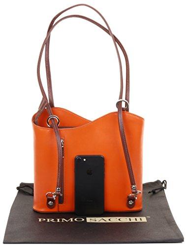 à sac sac ou main la de cuir marque sac Orange et rangement bandoulière grandes et Moyen moyennes à de à protecteur italien nbsp;Versions un en nbsp;Comprend fabriqué dos Marron main à Sac X7qPvYxg