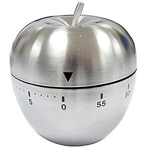 Xinlie Timer da Cucina Meccanico Conto alla Rovescia 60 Minuti Timer Cucina in Acciaio Inox Allarme Rotante a Forma di… 17