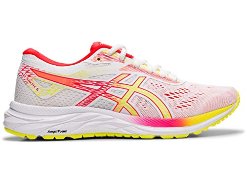 ASICS Women's Gel-Excite 6 Running Shoes, 7M, White/Sour Yuzu