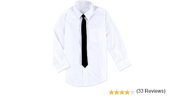 Camisa Blanca para niños con Corbata Negra: Amazon.es: Ropa y accesorios