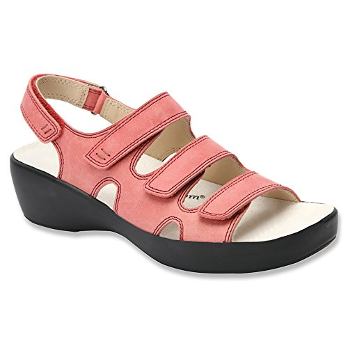 Drew Mujeres Alma Sandals Salmon Smooth Leather
