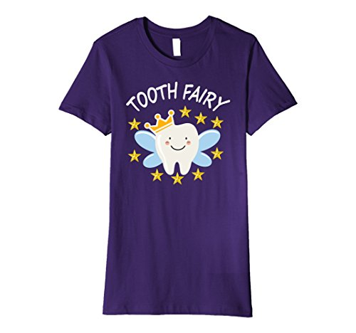 Tooth Fairy Costume Pictures (Womens Tooth Dentist Dental Hygienist Tooth Fairy T-Shirt Small Purple)