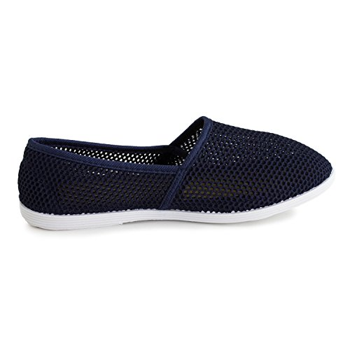 Mesh Shoes Slip Navy Canvas Footwear on Kali Womens Adults qwnCOUxXZz