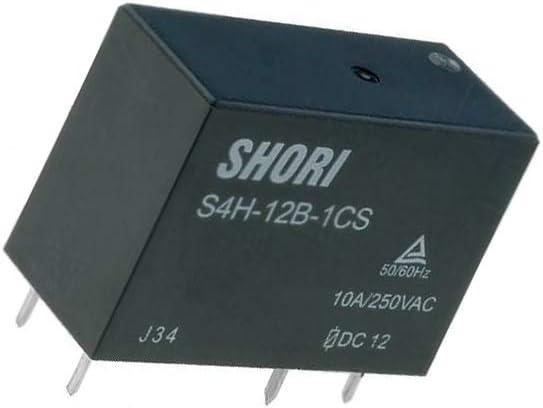 S4H-12V-1C Relay electromagnetic SPDT Ucoil12VDC 10A//250VAC 10A//30VDC S4H-12B-1C
