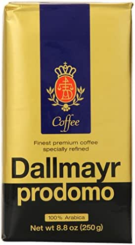 Dallmayr Gourmet Coffee, Prodomo (Ground), 8.8-Ounce Vacuum Packs (Pack of 3)
