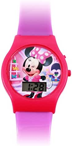 Minnie Mouse LCD Digital Watch Disney Girls Wrist Watch Gift Stocking Stuffer