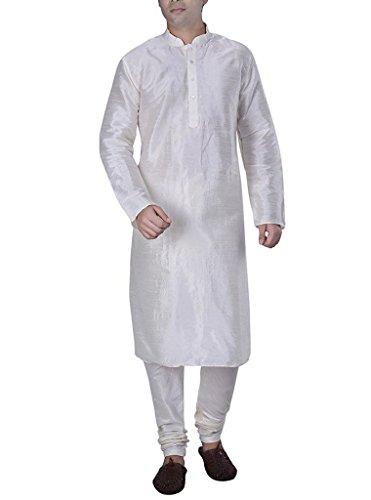 Royal Mens White Silk Blend Kurta Churidar ()