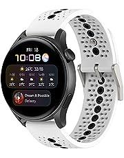 Hoopyeecase Wymiana Kompatybilny z Huawei Watch 3 pasek od zegarka, Huawei watch 3 PRO, Huawei watch GT2 pro/GT 2e / GT 42mm/ GT2 46MM, 22mm Oddychająca Silikon pasek od zegarka Quick Release