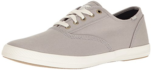Keds Champion Canvas Sneaker (Keds Men's Champion Original Fashion Sneaker,Drizzle Gray,9.5 M US)