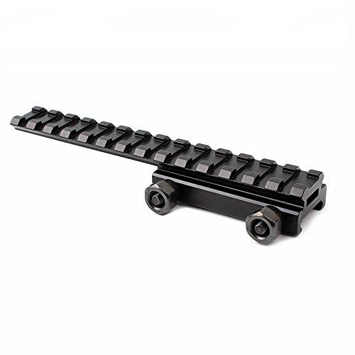 (Higoo 14 Slots,1/2 Scope Riser, See Through Low Profile & Extended, Flat Top Picatinny Riser Rail Mount, 145)