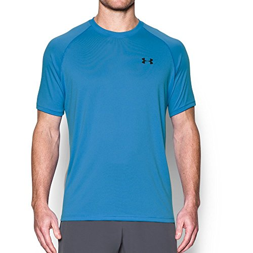 Under Armour Men's Tech Short Sleeve T-Shirt, Water /Black, Small by Under Armour (Image #4)