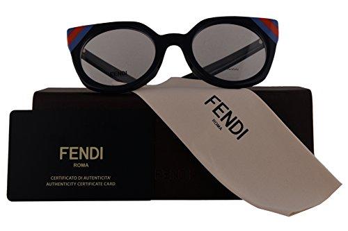 832215080d8e9 Galleon - Fendi Authentic Eyeglasses FF0246 Blue W Clear Demo Lens PJP  F0246 F246 FF 0246 (48mm)