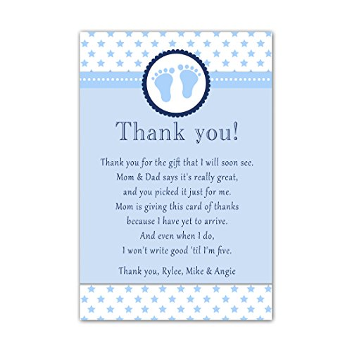 30 Thank You Cards Baby Boy Shower Cute