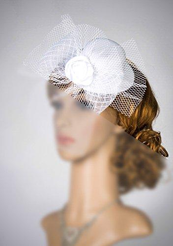 Mesh Fascinator Hat Headband-Mini Top Hat Fascinator-Mini Top Hat-Mad