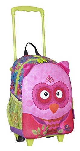okiedog wildpack junior 86012 trolley para niños DINOSAURIO, rojo LECHUZA fucsia