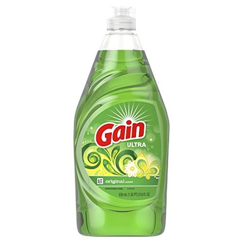 (Gain Ultra Dishwashing Liquid Dish Soap, Original, 21.6 fl oz)