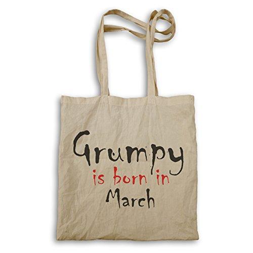 Grumpy ist im März geboren Tragetasche c217r