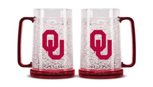 Duck House NCAA Oklahoma Sooners 16oz Crystal Freezer (Ncaa Crystal Mug)