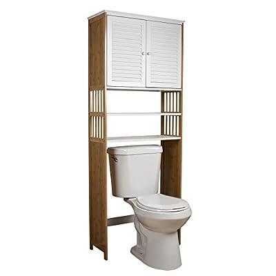 Danya B. Over The Toilet Double Door Space Saver Cabinet