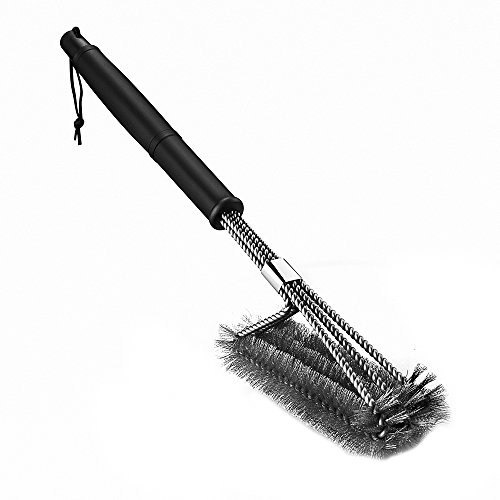 Amazon Lightning Deal 70% claimed: [Upgraded Version] Homitt BBQ Grill Brush Sturdy Stainless Steel Barbecue Brush Cleaner, 18 inch Long Enough to clean Charcoal, Weber, Porcelain and Infrared Grill - Handy Storage Bag Included
