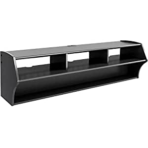 Prepac Altus Plus Wall Mounted A V Console 58 Inch Black