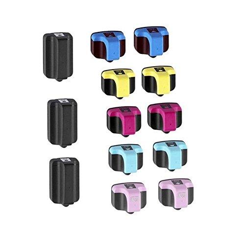 Karl Aiken Remanufactured Ink Cartridge Replacement for HP 02 (Black,Cyan, Magenta, Yellow, Light Cyan, Light Magenta,13-Pack) FOR 02 PHOTOSMART 3110 3210 3310 8200 8230 8250 8253 C5150 C5180 ()