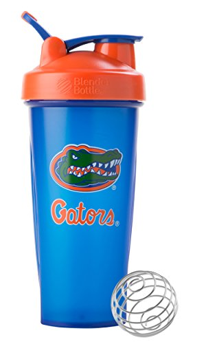 BlenderBottle Classic NCAA Collegiate Shaker Bottle, University of Florida - Blue/Orange, 28-Ounce