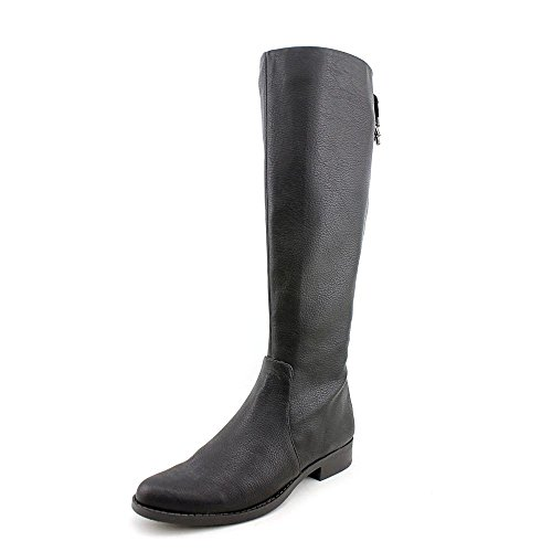 Calvin Klein Taylin Tumbled Womens Size 9 Black Leather Fashion Knee-High Boots