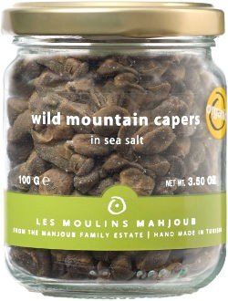 Les Moulins Mahjoub Wild Mountain Capers in Sea Salt - 12 Pack (500g) by Les Moulins Mahjoub