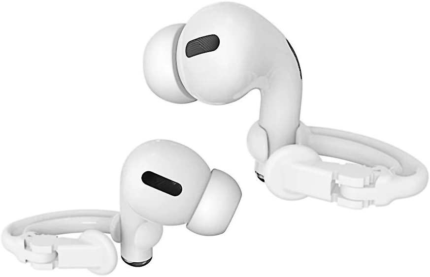 ICARERSPACE Ear Hooks Compatible with Apple AirPods 1, 2 and Pro, Anti Lost Sports AirPods Ear Hooks for Apple AirPods 1, 2 and Pro - White