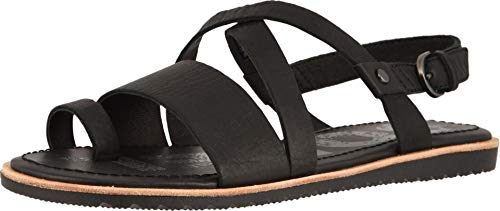 Sorel Womens Ella Criss Cross Sandal Open Toe Cut Out Shoes Slingback - Black - 7