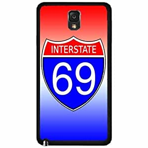 Interstate 69 - TPU RUBBER SILICONE Phone Case Back Cover Samsung Galaxy Note III 3 N9002