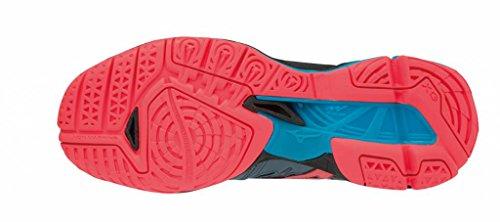 Wave Zapatillas 001 blk Mujer Multicolor X2 fcoral Para Tornado Mizuno bluemirage Hqwa4q