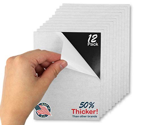 Flexible Adhesive Magnetic Sheets Paper 4-inch x 6-inch Peel and Stick, Works Great for Pictures!, Cuts To Any Size! Pack of ()