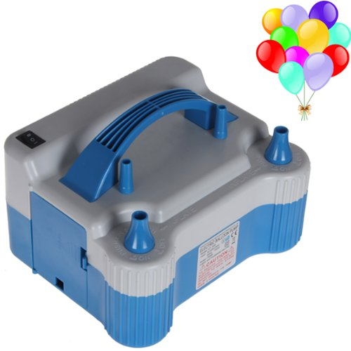 Household Decoration (OriGlam Portable Dual Nozzle Blue White 110V 700W Electric Balloon Blower Pump, Electric Household Balloon Inflator Air Pump Blower For Birthday, Wedding)