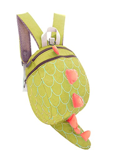 Kids Toddler Child School bag Boy Girl Cartoon Dinosaur Safety Harness Backpack (Green) from WPAN