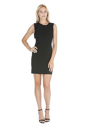 3c2c8f9dc20b bebe Women's Sleeveless Asymmetrical Ruffle Detail in Right Shoulder ...