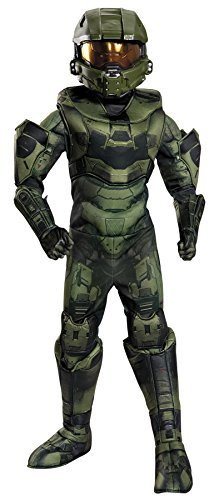 UHC Boy's Master Chief Prestige w/ Full Helmet Outfit Child Halloweem Costume, Child S (4-6) ()