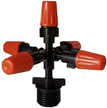 Gxbld-yy Orange 5 manera boquilla de nebulización jardín de césped Las plantas de pulverización de efecto invernadero herramienta de jardinería Patio sistema de atomización del rociador de riego: Amazon.es: Hogar