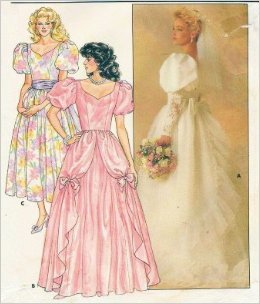 Vintage Butterick Bridal Gown Wedding Dress Sewing Pattern 3685