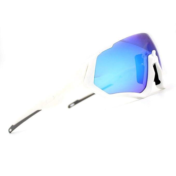 2018 Kit de Gafas de Sol Ciclismo 3LS Revo + polarizado + Transparente (Blanco)