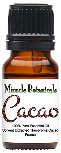 Miracle Botanicals Cacao Absolute Oil - Hexane Free Extraction - 100% Pure Theobroma Cacao - 5ml, 10ml, or 30ml Sizes - Therapeutic Grade - 10ml