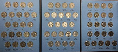 1938 P D S - 1961 Jefferson Nickels Incudes WWII Era In New Album ()