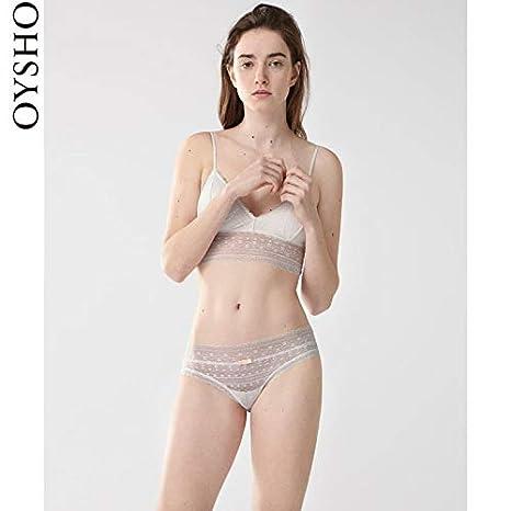WXNLEAI Oysho encaje blanco cintura baja calzoncillos ropa interior mujer 30056206959, XS, blanco: Amazon.es: Salud y cuidado personal