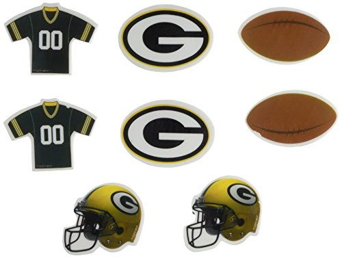 Kole Imports NFL Licensed Green Bay Packers Shaped Erasers Set (FB387)