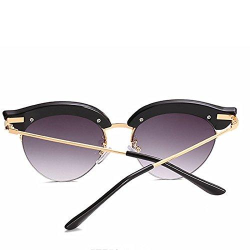 de Black Europea de Blue Gafas de y de la de Color Las Sakuldes Americana Cuerpo Gafas Personalidad señoras Moda Medio Sol Sol Sol Gafas la de de Grey H4wUq5Fz