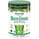 Macro Life Naturals Macro Greens Nutrient-Rich Super Food Supplement,30 Servings, 10 oz (283.5 g), Package May Vary
